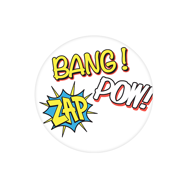 "PC2014 Large Justice League ""Bang! Zap Pow! Clear Plate"