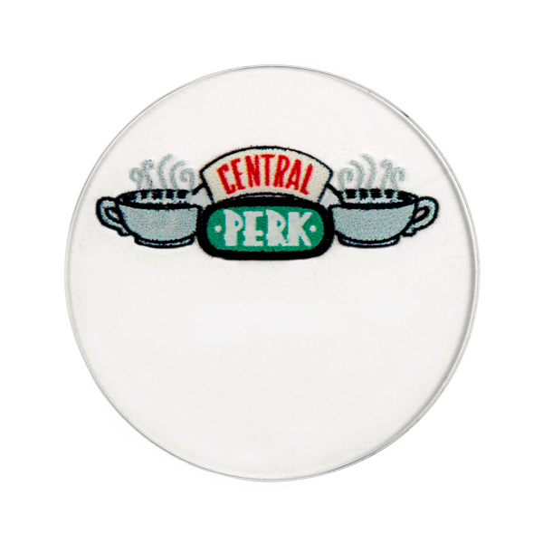 "PC2015 Large Clear ""Friends"" ""Central Perk"" Plate"