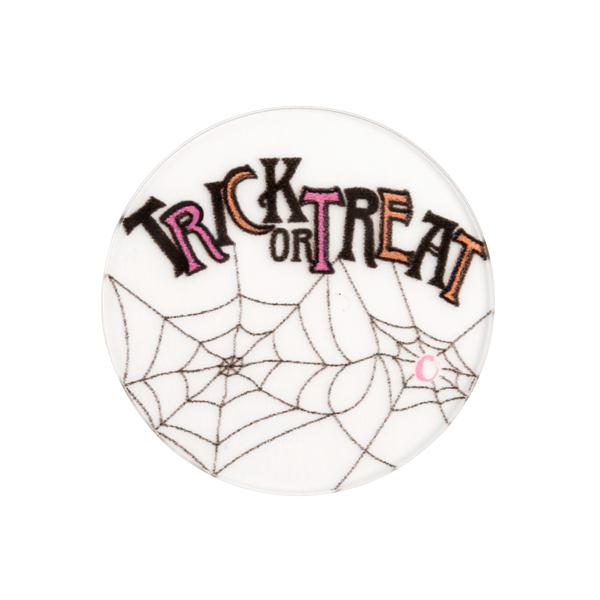 "PC2016 Medium Clear ""Trick or Treat"" Plate"