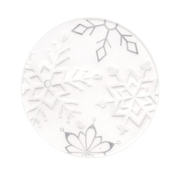 PC2017 Large Clear Snowflake Plate New for 2020