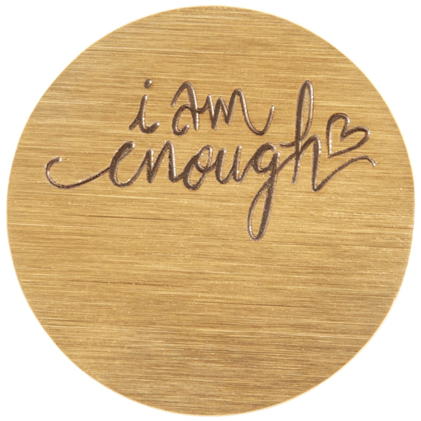 "PG9332 Large Gold ""I Am Enough"" Plate"