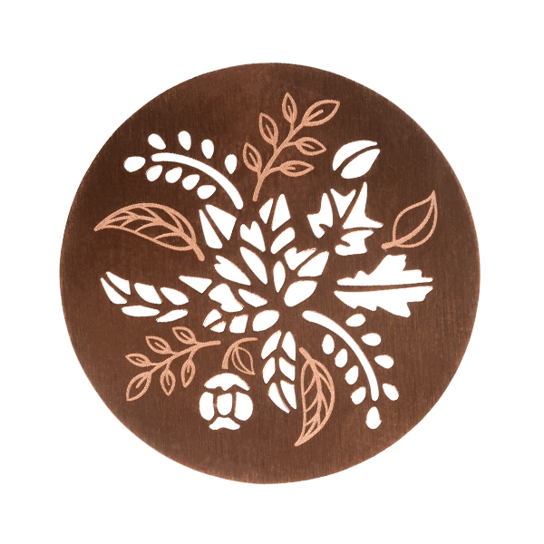 PR9317 -  Large Two Sided Silver & Rose Gold Leaves Cut-Out Plate