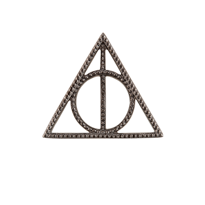 WN1031 Harry Potter Gunmetal Deathly Hallows Window Plate for Large Locket